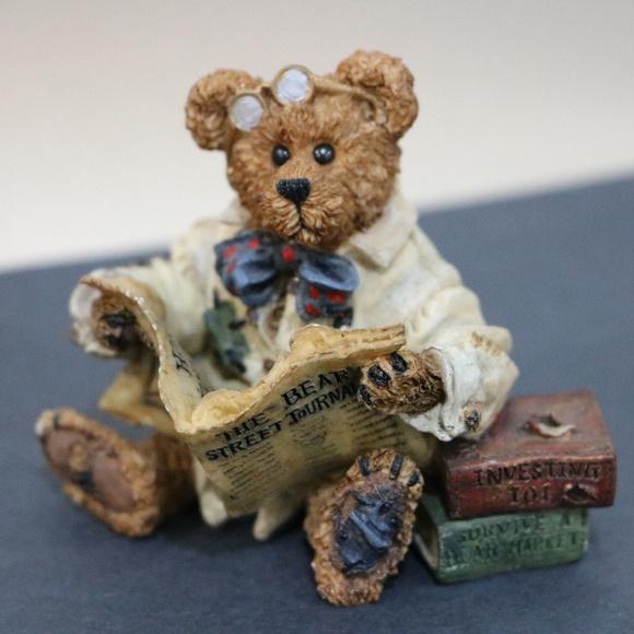 Dean Newsbearger Resin Boyds Bear Stock Market